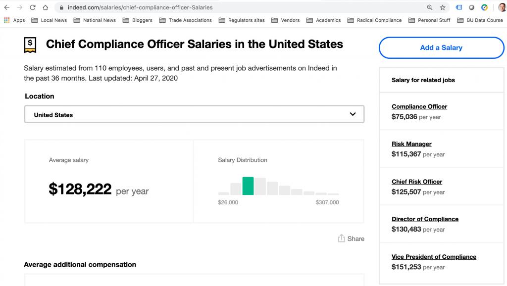 CCO salaries
